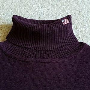 RALPH LAUREN POLO JEANS Turtleneck Flag Sweater